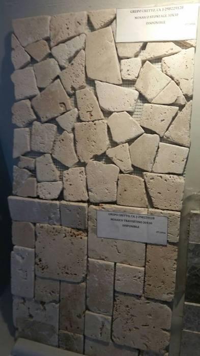 Mosaicos Travertino Paredes y pisos de estilo minimalista de Grupo Cretto, C.A Minimalista Mármol