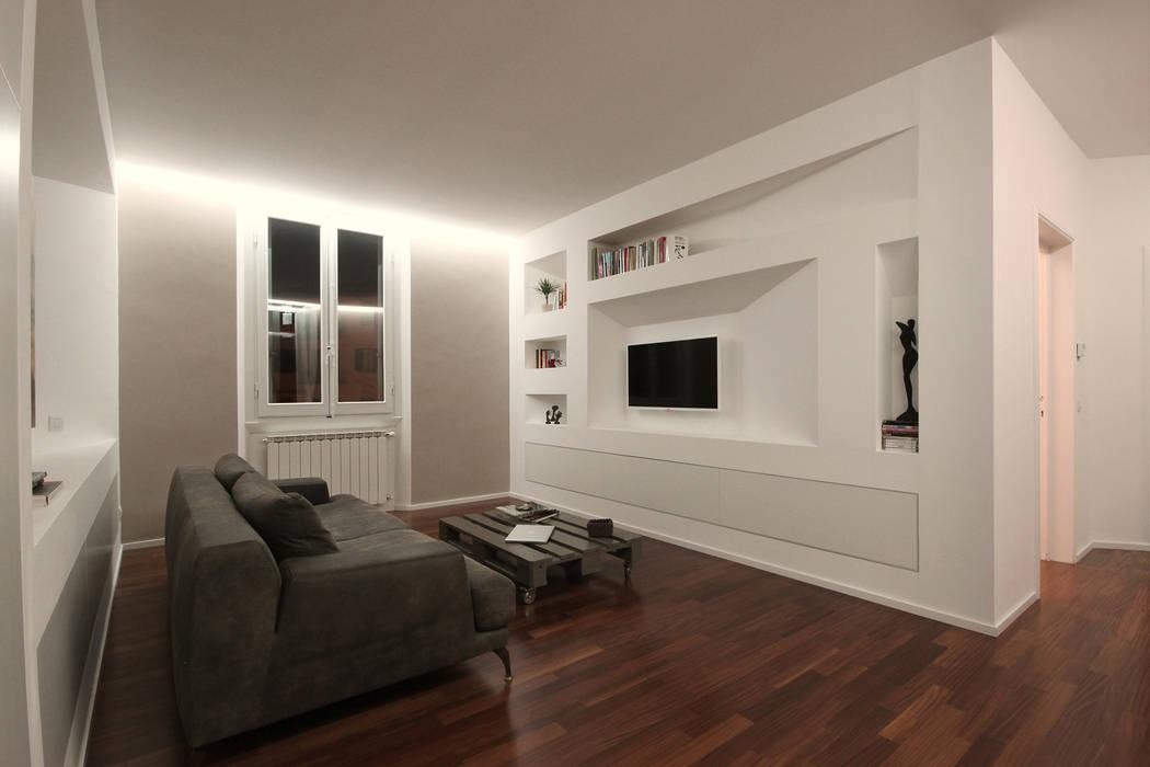 Ristrutturazione completa di una casa a firenze soggiorno in