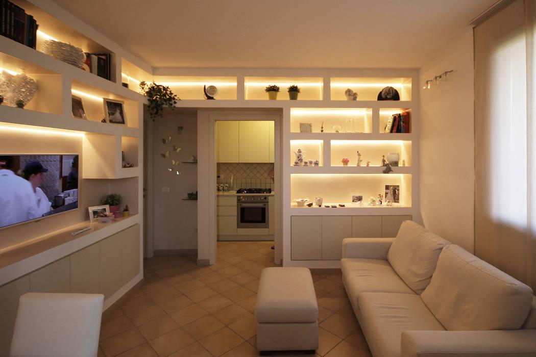 Arredare il soggiorno con librerie in cartongesso soggiorno in