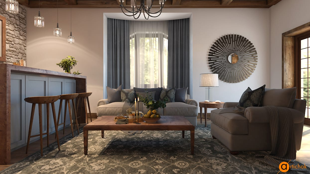 Country Style Living Room By Artichok Design Country Homify