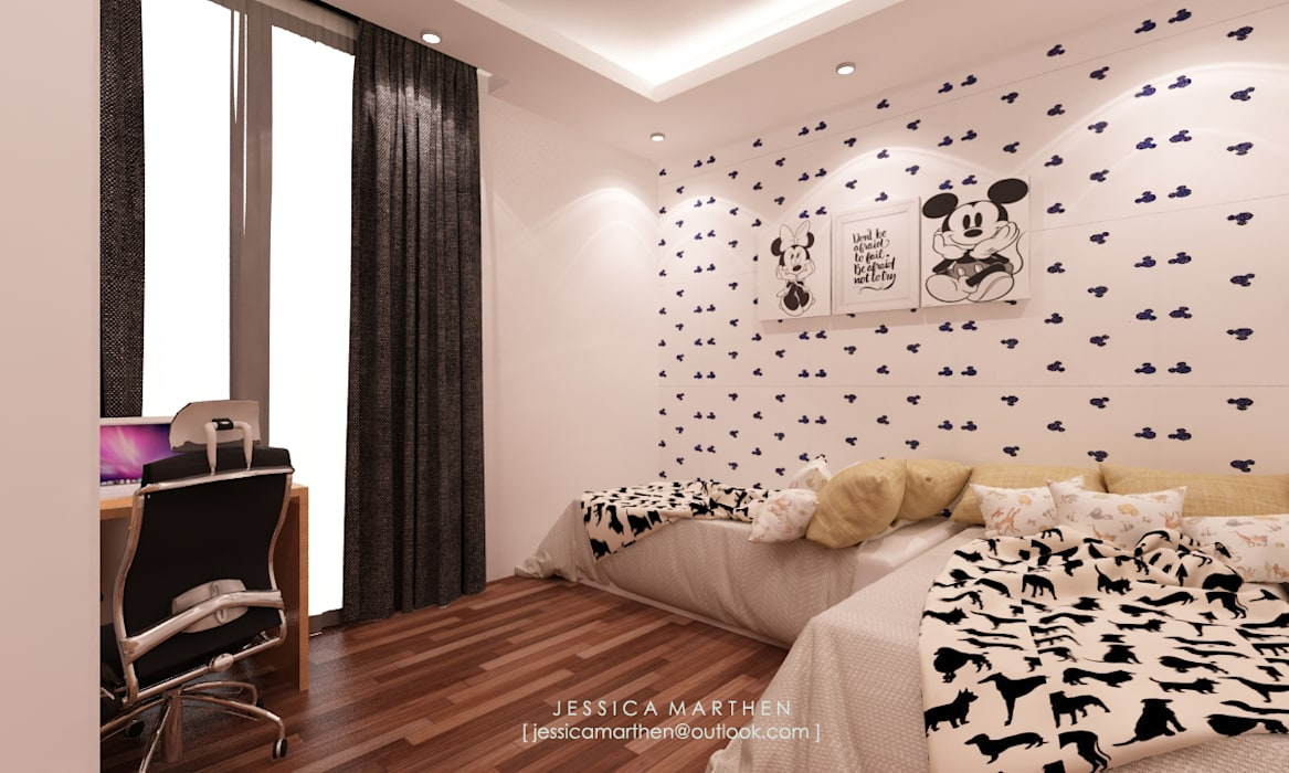 Kamar Tidur Modern Oleh JESSICA DESIGN STUDIO Modern