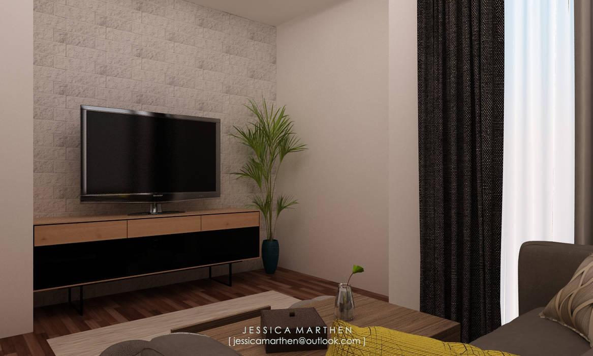 Salas de estilo escandinavo de JESSICA DESIGN STUDIO Escandinavo