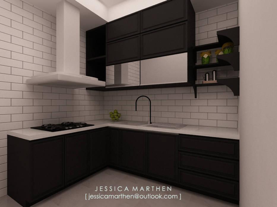 Кухни в . Автор – JESSICA DESIGN STUDIO, Скандинавский