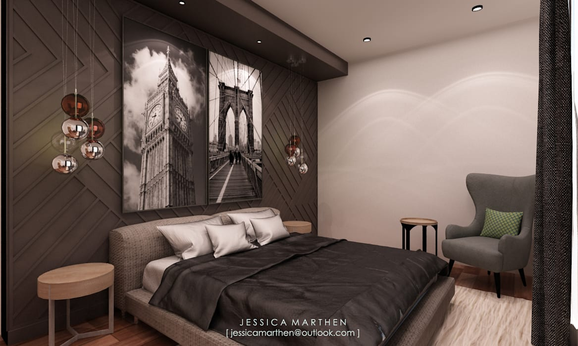 Scandinavian style bedroom by JESSICA DESIGN STUDIO Scandinavian