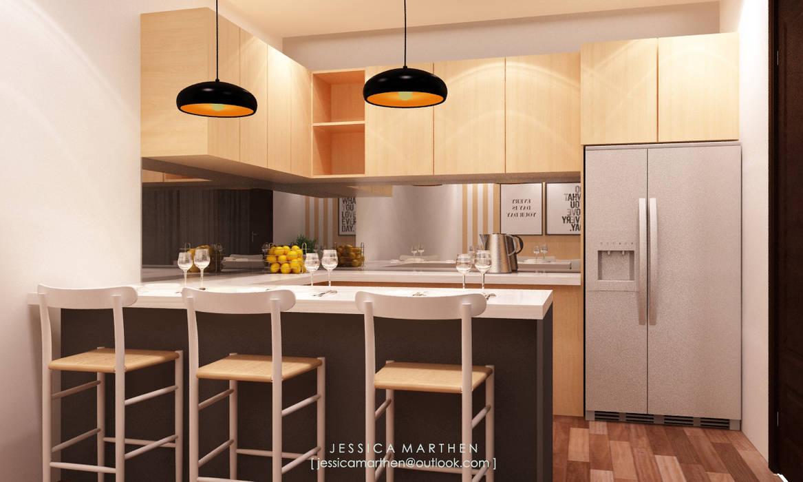 : Dapur oleh JESSICA DESIGN STUDIO,