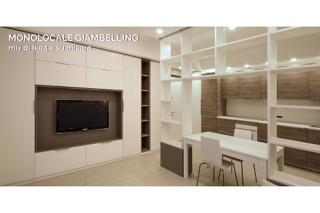 Mobili Scandinavi Milano : Arredamento di design per un monolocale a milano soggiorno in