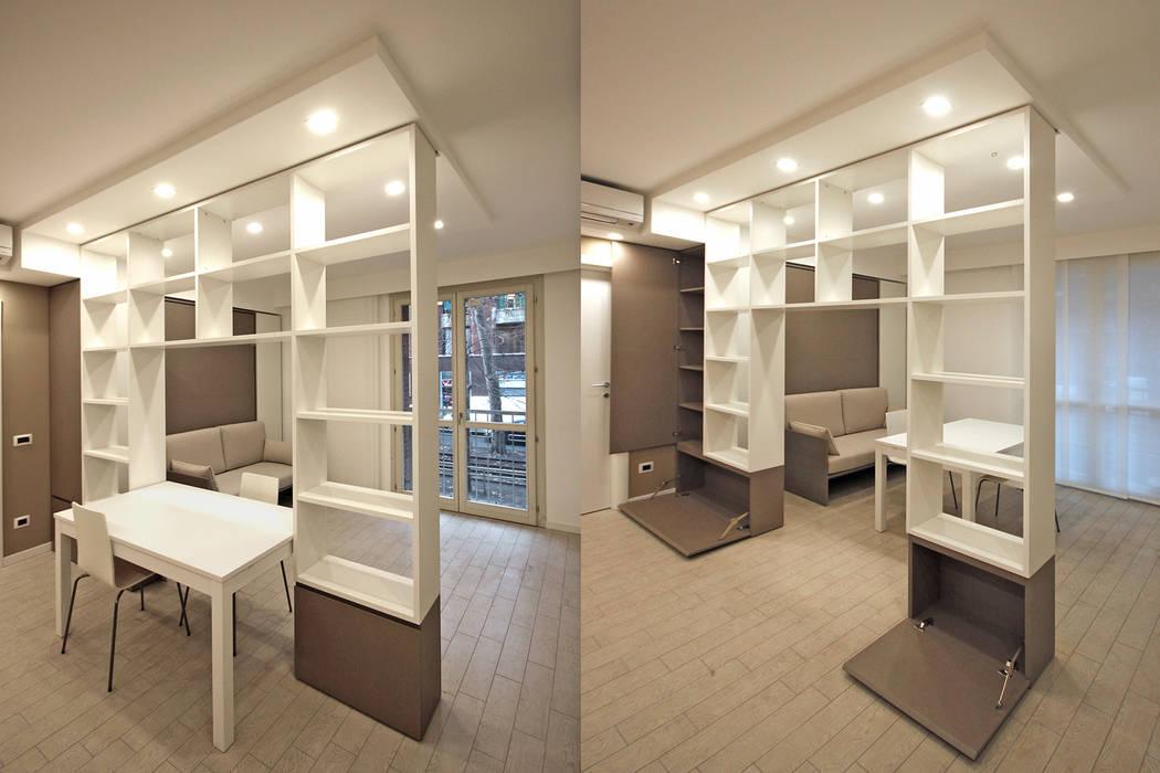 Arredamento di design per un monolocale a milano: ingresso ...