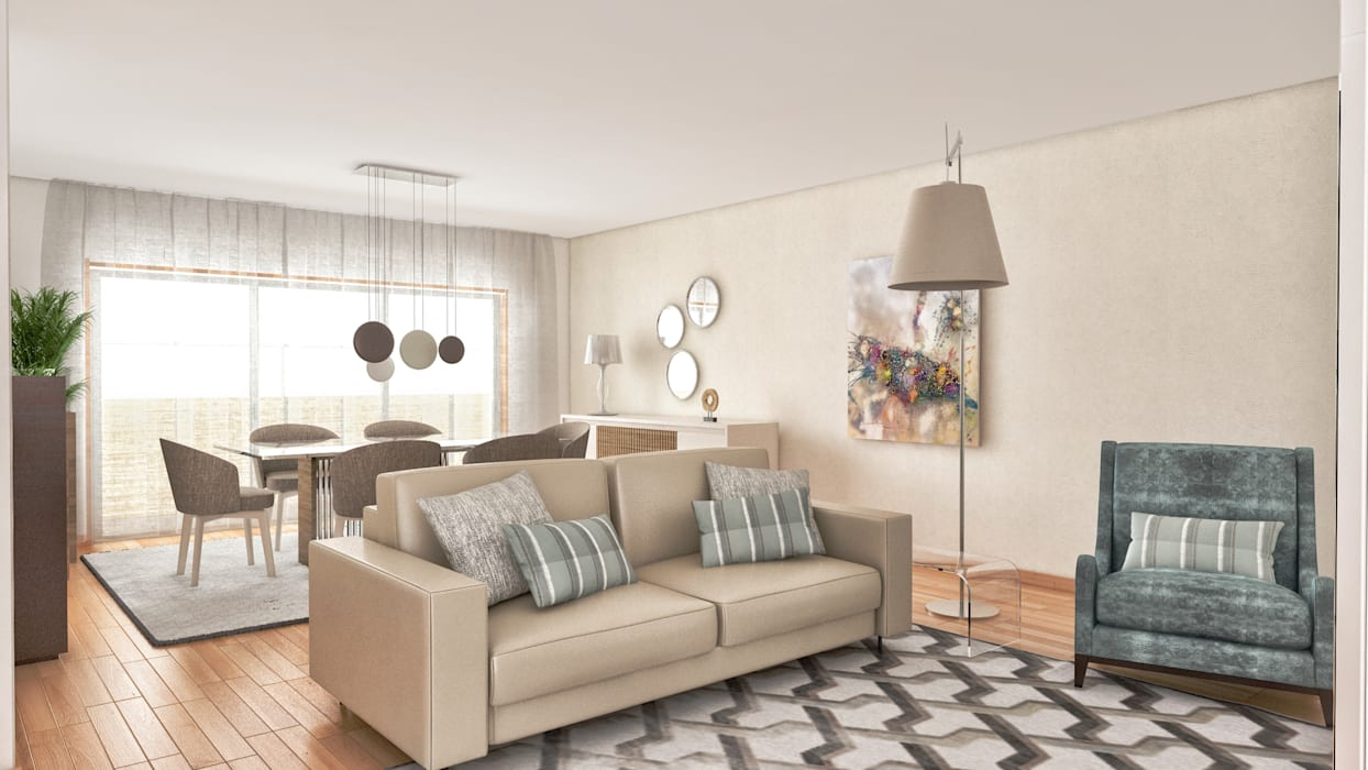 Гостиная в . Автор – MY STUDIO HOME - Design de Interiores, Классический