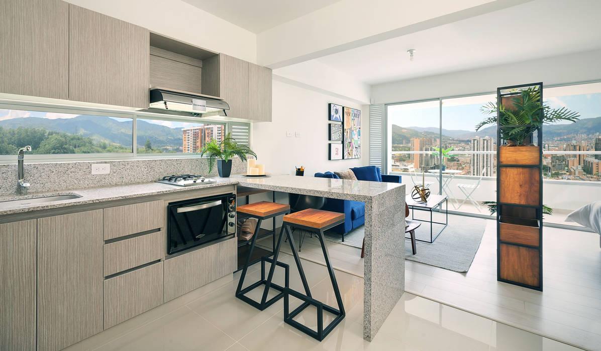 Cocina de Maria Mentira Studio Moderno Aglomerado