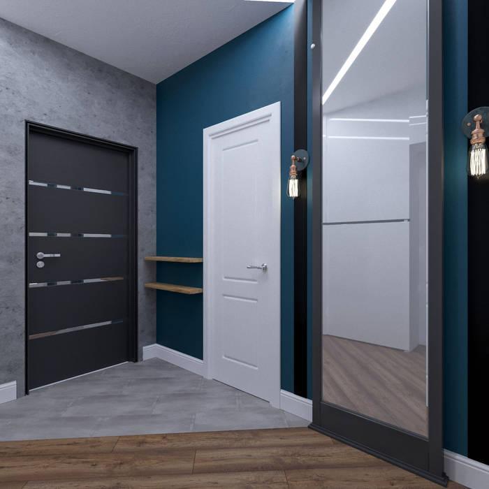 Дизайн-проект квартиры в SAMPO, 60 кв.м.: Коридор и прихожая в . Автор – Loft&Home