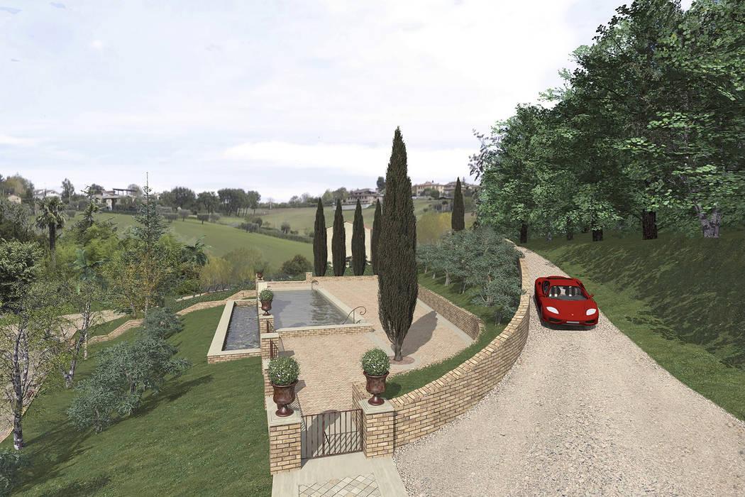 Bio piscina per una country house nelle marche giardino for Bio piscina