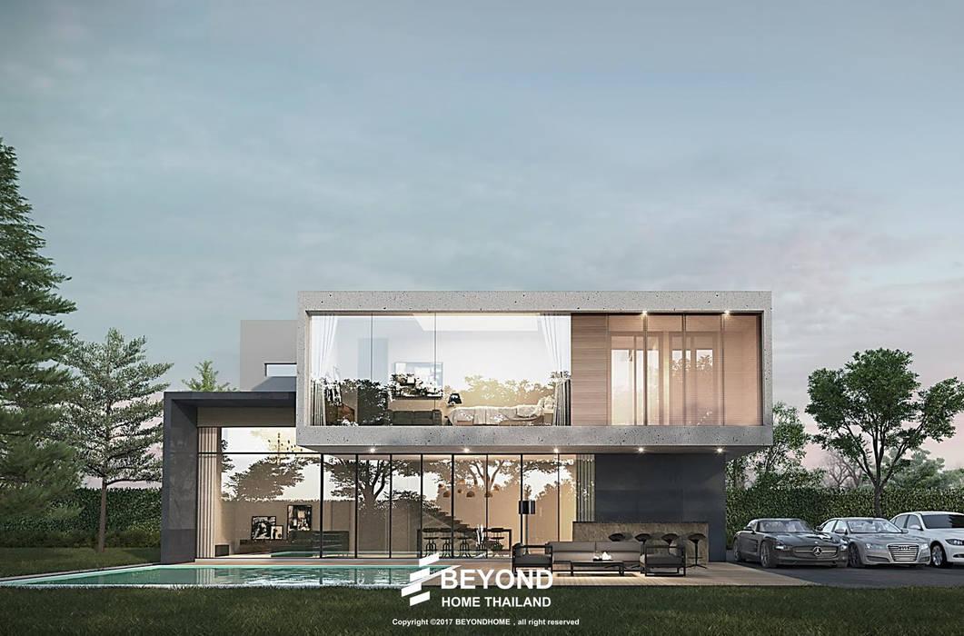 Pool-villa Homes:  บ้านสำหรับครอบครัว by HOME