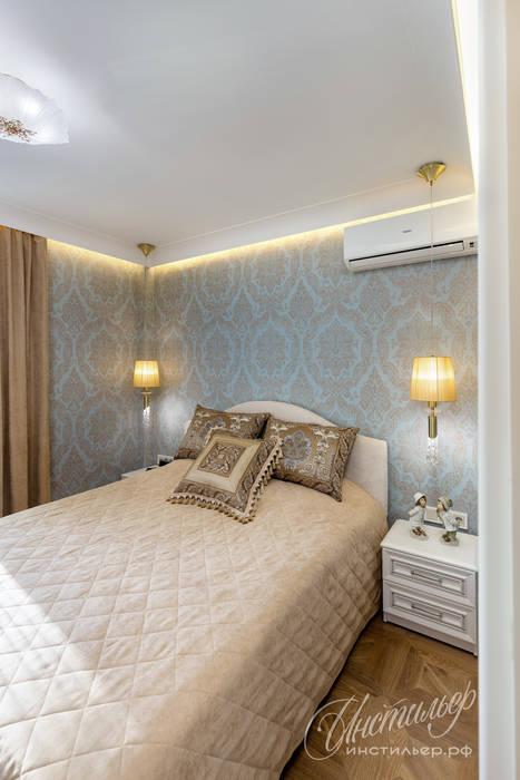 Уютный интерьер маленькой спальни: Спальни в . Автор – Студия Инстильер   Studio Instilier,