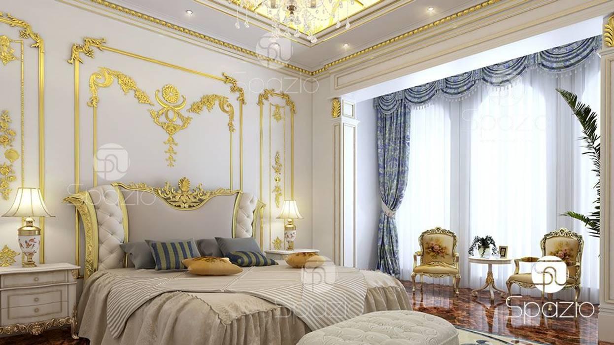 :  غرفة نوم تنفيذ Spazio Interior Decoration LLC,كلاسيكي