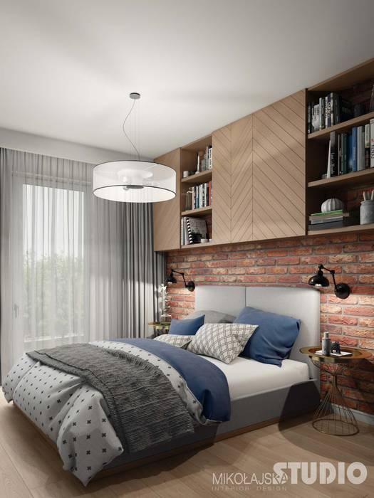 Soft Loft Sypialnia Jasne Drewno Cegła Styl W Kategorii