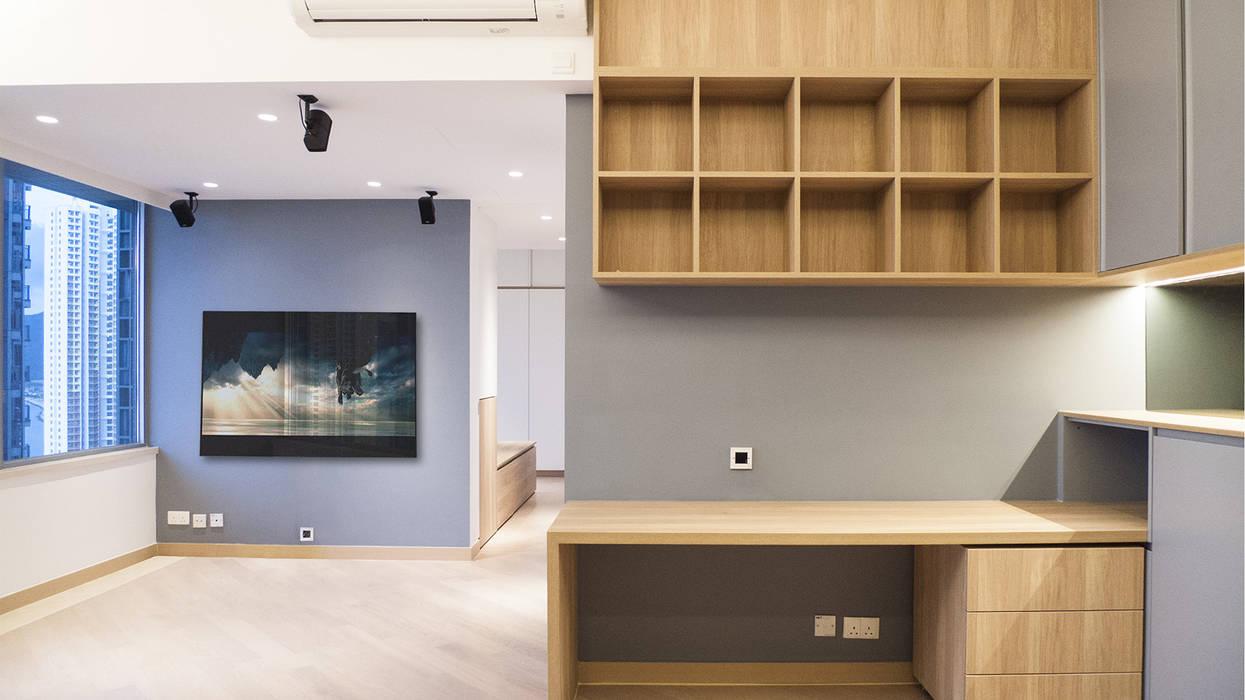 Living room by BIGGERTHANstudio