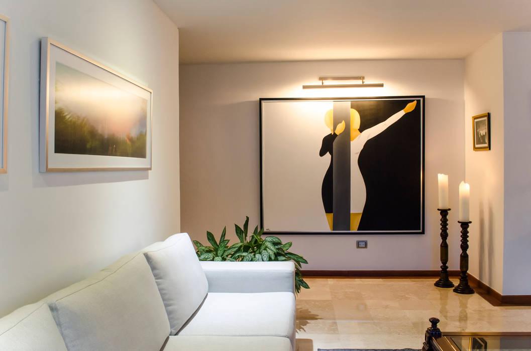 Sala / Salón Social: Salas de estilo ecléctico por Tejero & Ángel Diseño de Interiores