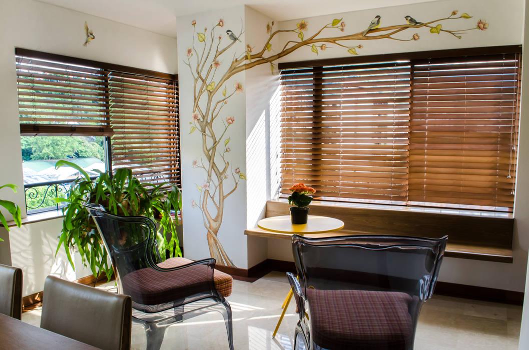 Zona Costura O Tomar Café Balcones y terrazas de estilo ecléctico de Tejero & Ángel Diseño de Interiores Ecléctico