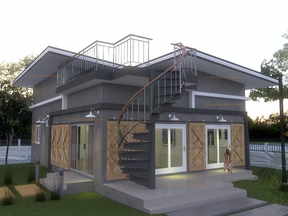 บ้านชั้นเดียวขนาด กว้าง 6 เมตร ยาว 8 เมตร:  บ้านเดี่ยว โดย แบบบ้านออกแบบบ้านเชียงใหม่,