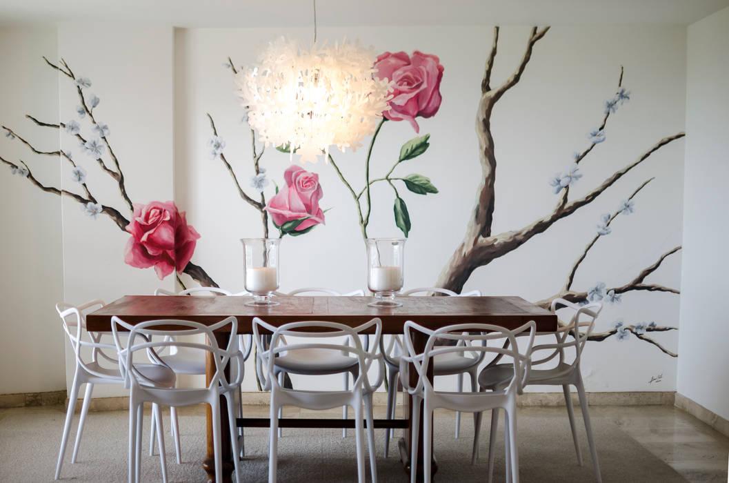 Apartamento Aristizabal - Alviar / Parte 1: Comedores de estilo  por Tejero & Ángel Diseño de Interiores