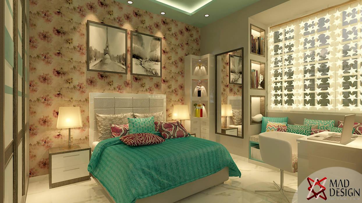MASTER BEDROOM VIEW 1:  Bedroom by MAD DESIGN