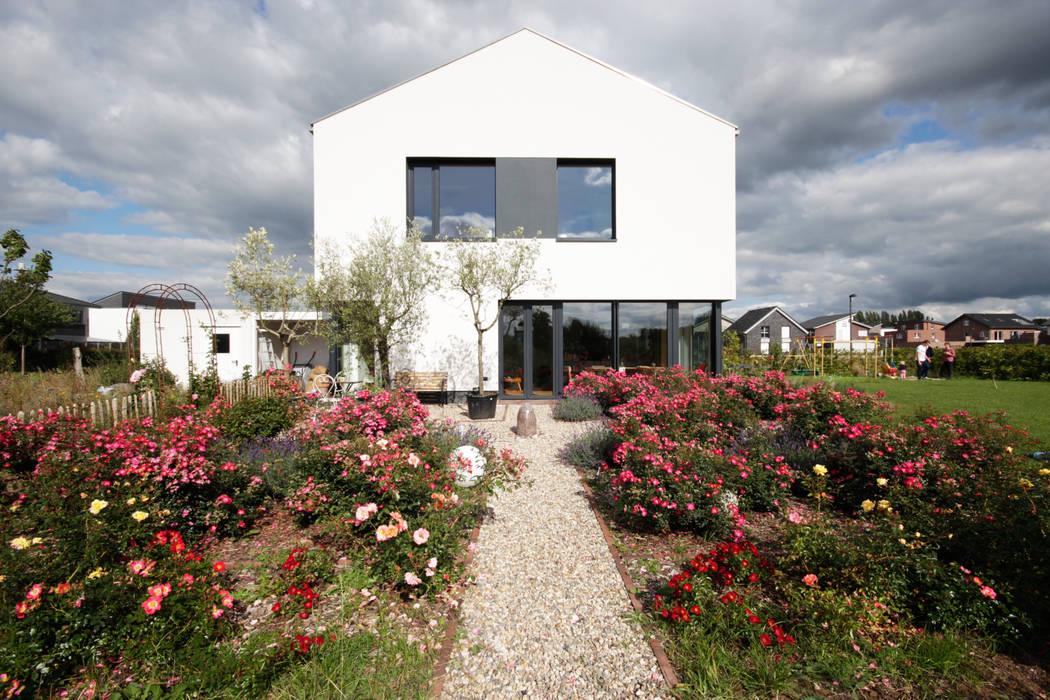 Blick vom Rosengarten:  Passivhaus von ARCHITEKTEN BRÜNING REIN