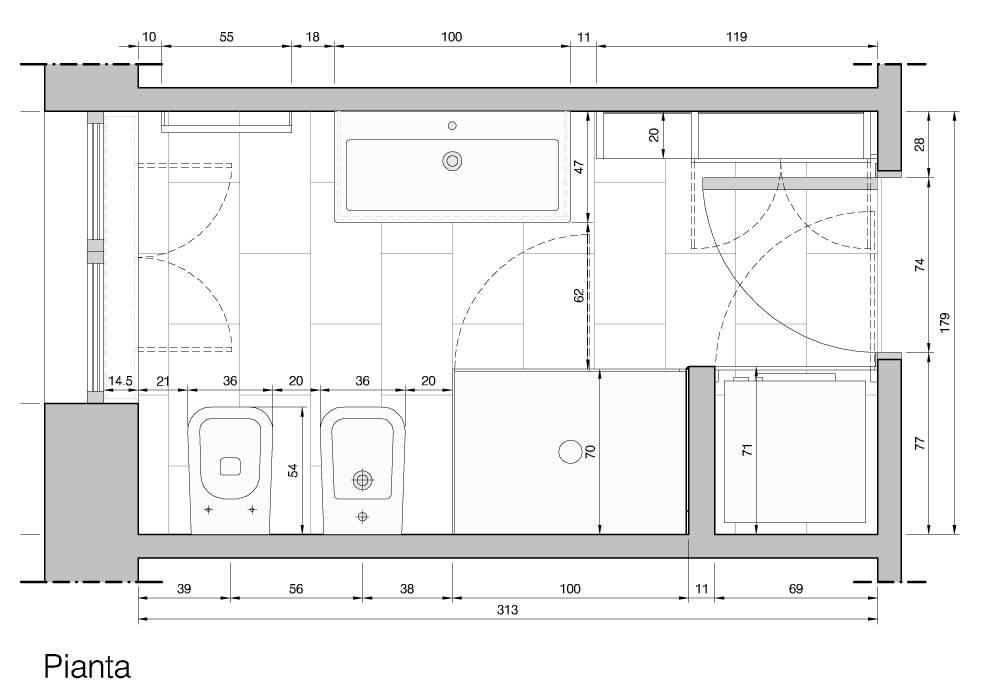Baños de estilo  por Studio PE  [patricio enriquez architetto], Moderno