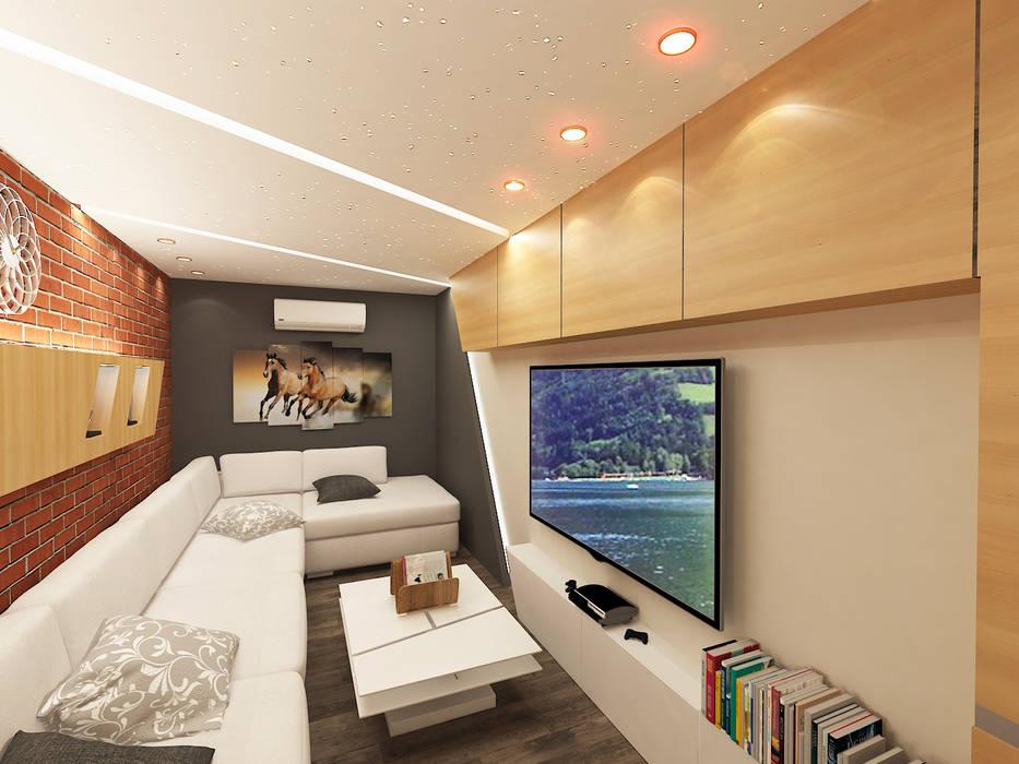 Salas / recibidores de estilo  por Quattro designs , Moderno