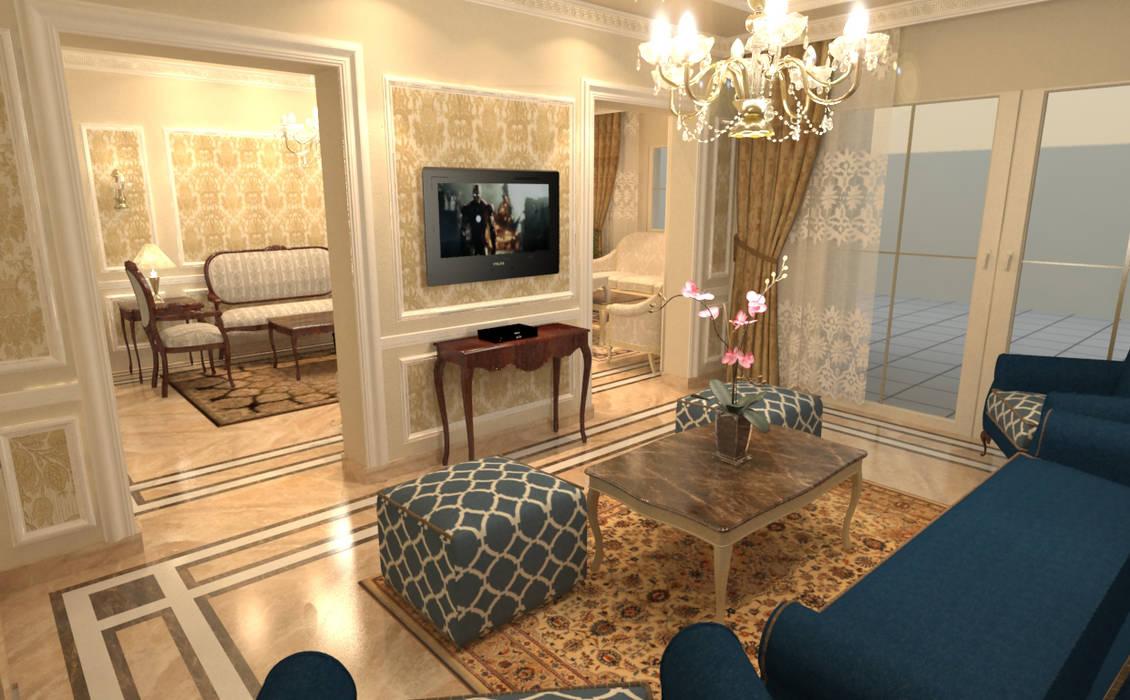 Living room by Quattro designs , Classic