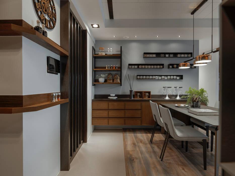 餐廳展示牆:  餐廳 by 存果空間設計有限公司