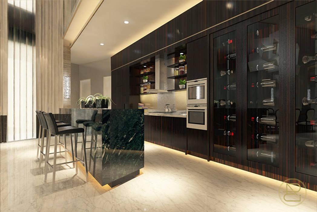 BGV House: Ruang Penyimpanan Wine oleh Arci Design Studio,