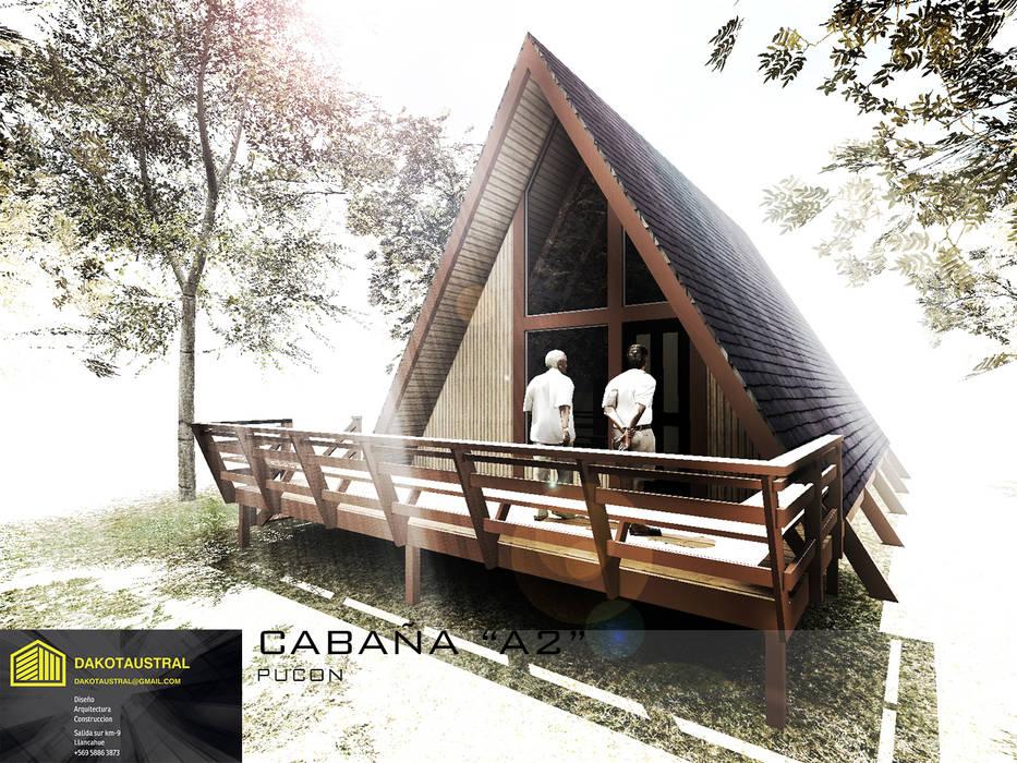 """CASA """"A2"""": Casas de madera de estilo  por Dakota Austral"""