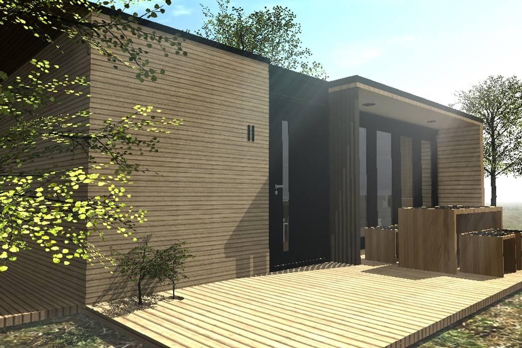 """CASA """"A-C"""": Casas de madera de estilo  por Dakota Austral"""