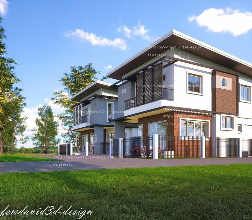งานออกแบบบ้านพักอาศัย2ชั้น อ.แก่งคอย จ.สระบุรี โดย fewdavid3d-design