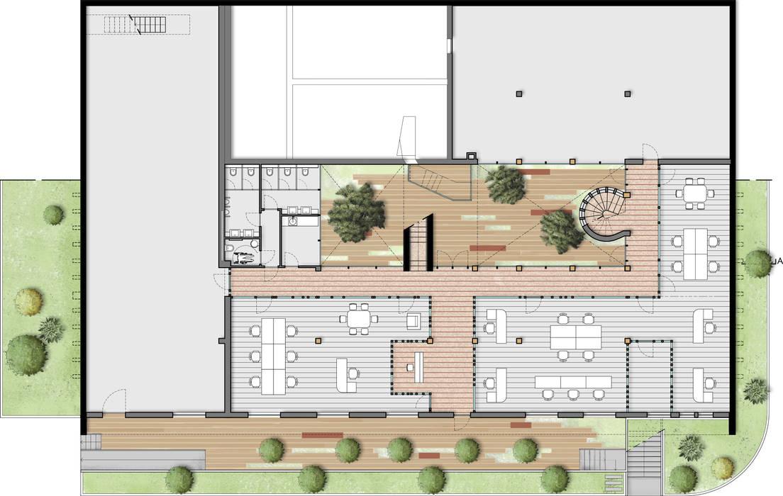 Planta geral piso 0:  industrial por Maia e Moura Arquitectura,Industrial