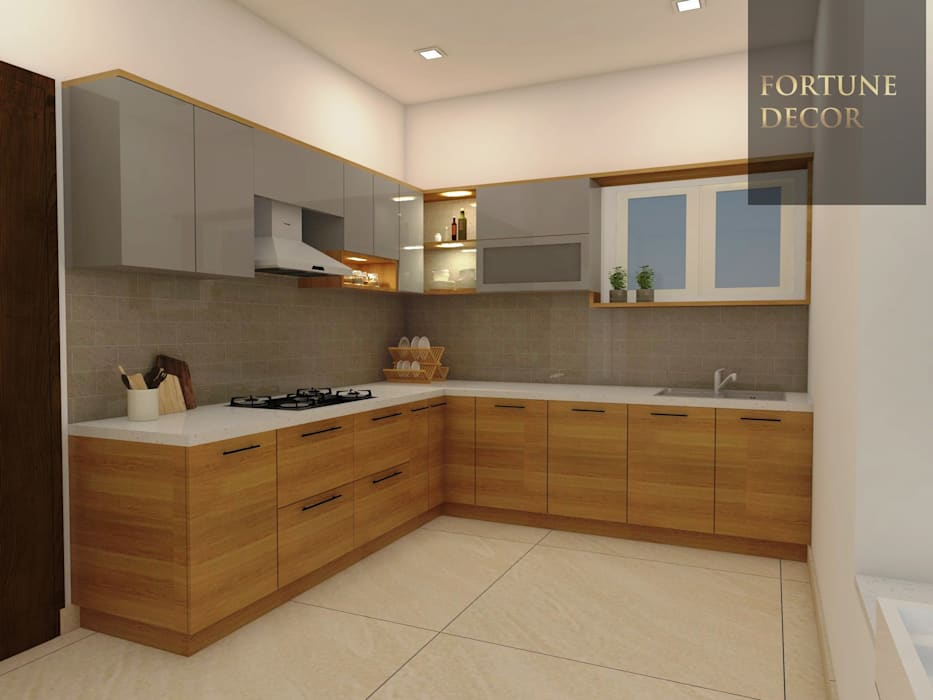 MODULAR KITCHEN:  Kitchen units by FORTUNE DECOR
