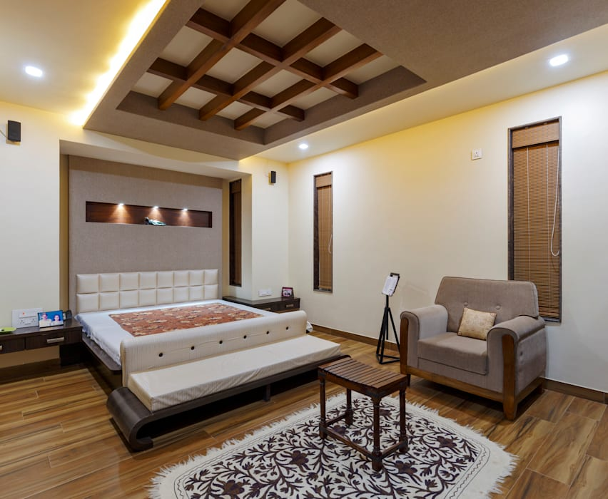 Masters Bed Room Tropical style bedroom by homify Tropical