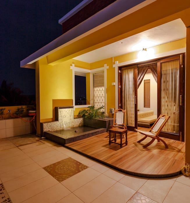Sit-Out for Masters Bed Room. Tropical style balcony, veranda & terrace by homify Tropical