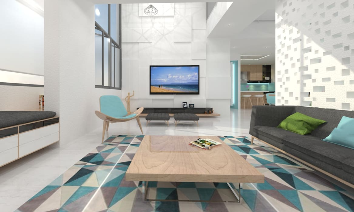 Ruang Keluarga Minimalis Oleh Ravi Prakash Architect Minimalis Kayu Buatan Transparent