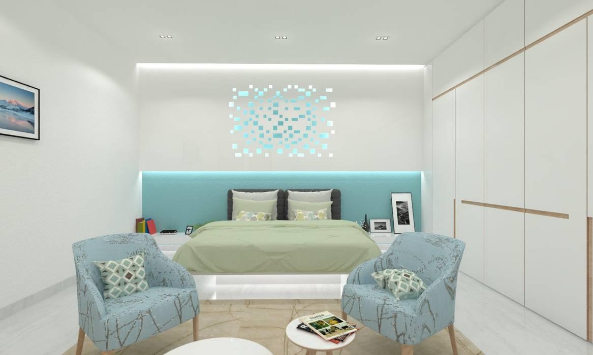 Master Bedroom:  Bedroom by Ravi Prakash Architect,
