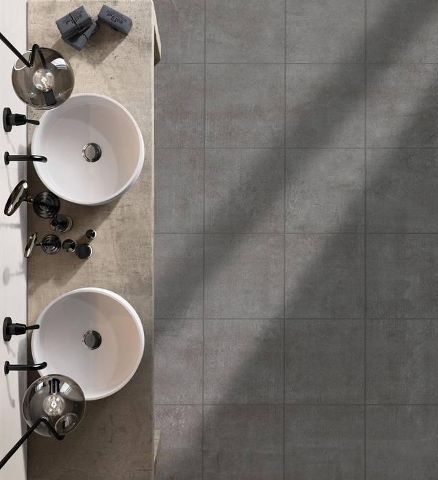 Fliesen in betonoptik im badezimmer industriale badezimmer ...