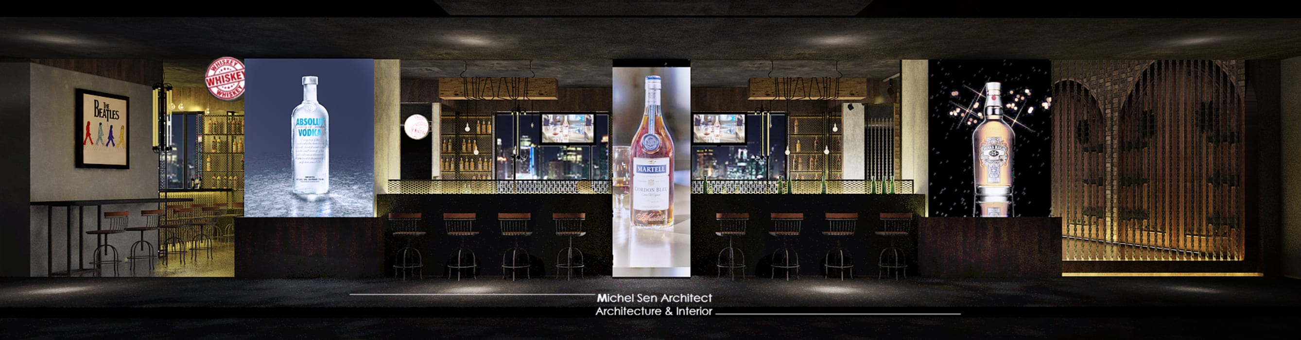 21STUDIO - Cafe & Bar Lounge @Golden Boutique Hotel: Bar & Klub  oleh Michel Sen Architect, Industrial