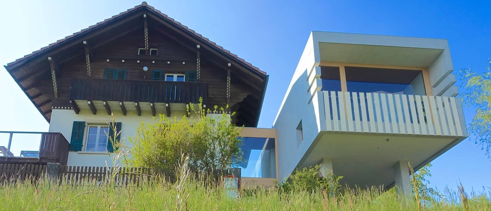 Südansicht - Foto by zeitwerkstatt:  Einfamilienhaus von zeitwerkstatt gmbh