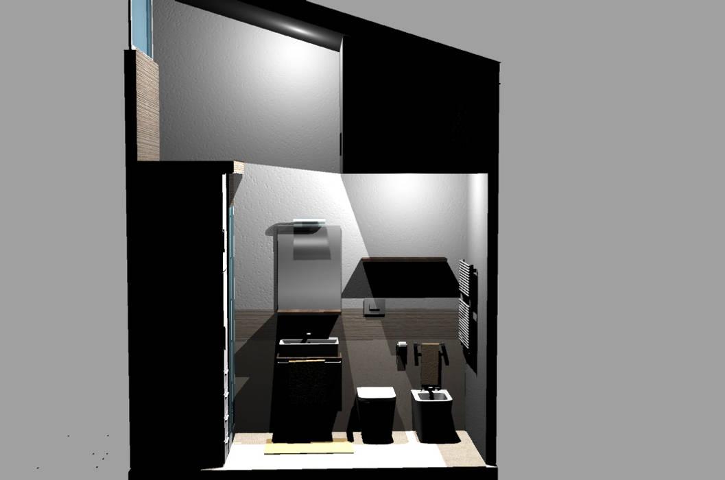 Ristrutturazione bagno piccolo in stile di happy habitat studio