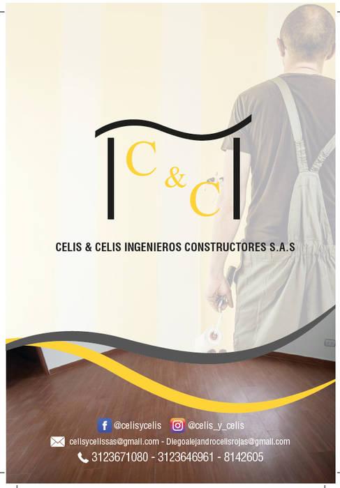 CONTACTOS!!!: Casas de estilo  por CELIS & CELIS INGENIEROS CONSTRUCTORES S.A.S