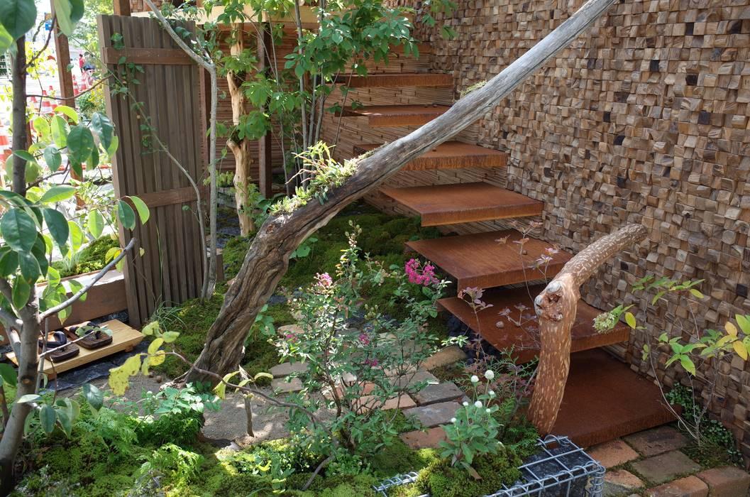 全国都市緑化はちおうじフェア 金賞受賞作品: 株式会社 髙橋造園土木  Takahashi Landscape Construction.Co.,Ltdが手掛けたアプローチです。,