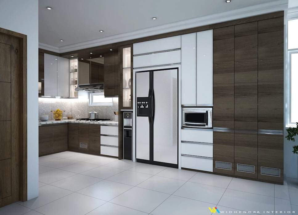 Kitchen Set Ms Shintya. Labersa Village, Pekanbaru Riau: Unit dapur oleh Widhendra interior, Minimalis Kayu Lapis