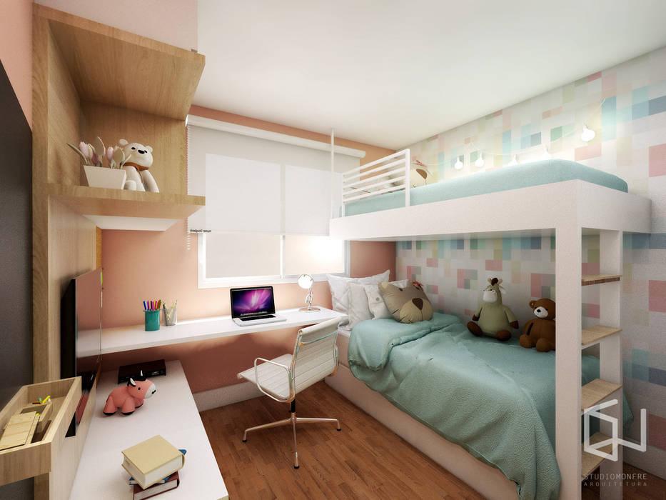 Quarto Infantil : Quartos das meninas  por Studio Monfre Arquitetura