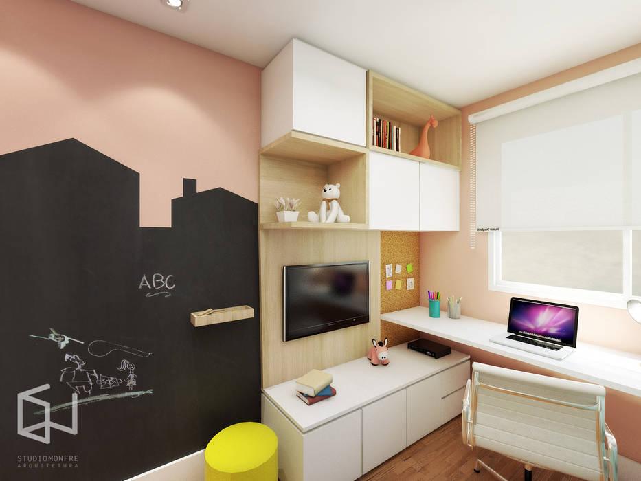 Cuarto para niñas de estilo  por Studio Monfre Arquitetura, Moderno