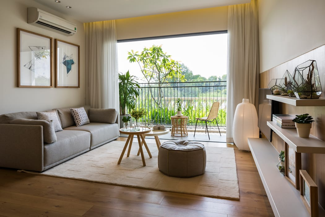 Palm Heights Moderne Wohnzimmer von MIA Design Studio Modern